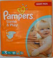PAMPERS SLEEP & PLAY JUMBO 3 MIDI 100 KS 4-9 KG