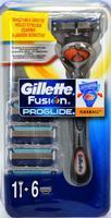 GILLETTE FUSION PROGLIDE FLEXBALL STROJEK + 6 HLAVIC