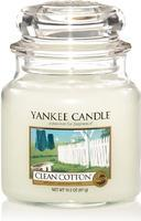 YANKEE CANDLE CLASSIC 411 G CLEAN COTTON 1 KS