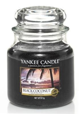 YANKEE CANDLE CLASSIC STŘEDNÍ 411 G BLACK COCONUT 1 KS