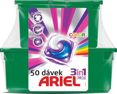 ARIEL 3V1 COLOR GELOVÉ KAPSLE NA PRANÍ 50 KS