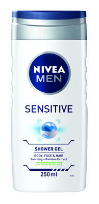 NIVEA MEN SPRCHOVÝ GEL FOR SENSITIVE 250 ML
