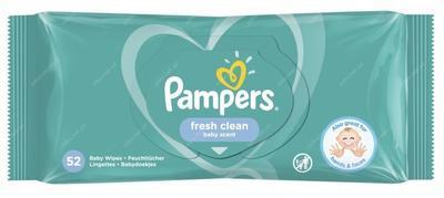 PAMPERS FRESH CLEAN DĚTSKÉ ČISTÍCÍ UBROUSKY 52 KS
