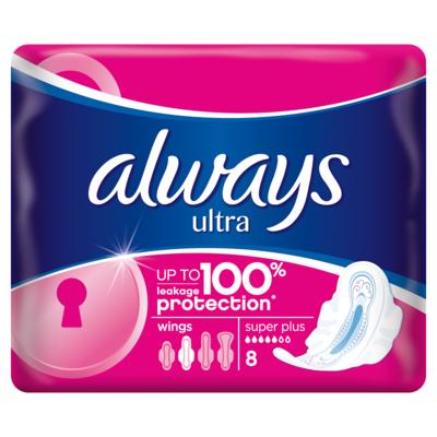 ALWAYS ULTRA SUPER PLUS 8 KS