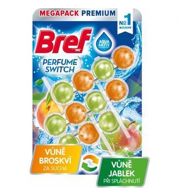 BREF PERFUME SWITCH WC BLOK JUICY PEACH + SWEET APPLE 3X50 G