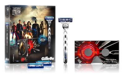 GILLETTE MACH3 TURBO STROJEK + 2 HLAVICE JUSTICE LEAGUE - 1