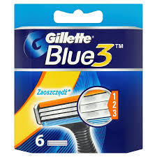 GILLETTE BLUE3 NÁHRADNÍ HLAVICE 6 KS
