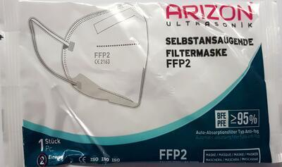 ARIZON ULTRASONIC RESPIRATOR FFP2 BÍLÝ 50 KS - 2