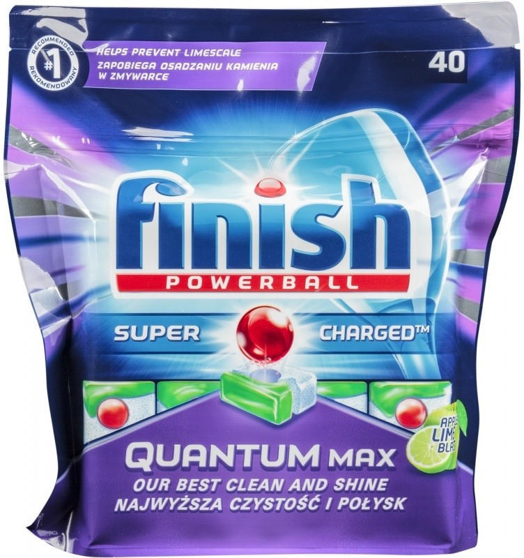 FINISH CALGONIT QUANTUM MAX APLE LIME TABLETY DO MYČKY 40 KS