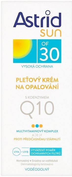 ASTRID SUN PLEŤOVÝ KRÉM NA OPALOVÁNÍ S Q10 OF 30 50