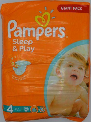 PAMPERS SLEEP & PLAY JUMBO 4 MAXI 86 KS 7-14 KG