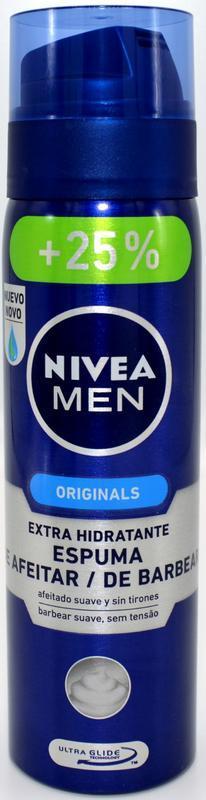 NIVEA MEN PĚNA NA HOLENÍ ORIGINAL 200+50 ML