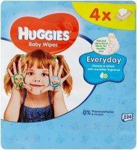HUGGIES WIPES QUATRO PACK EVERY DAY 4X56 KS