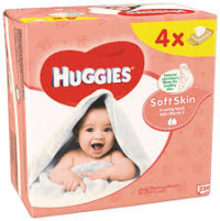 HUGGIES WIPES QUATRO PACK SOFT SKIN 4X56 KS