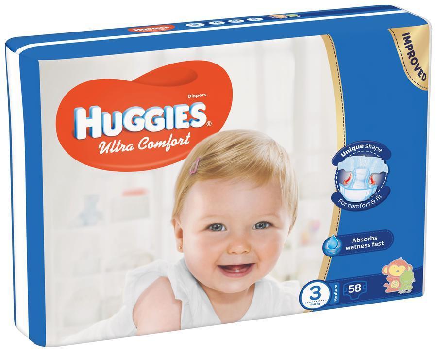 HUGGIES ULTRA COMFORT JUMBO 3 5-8 KG (58)