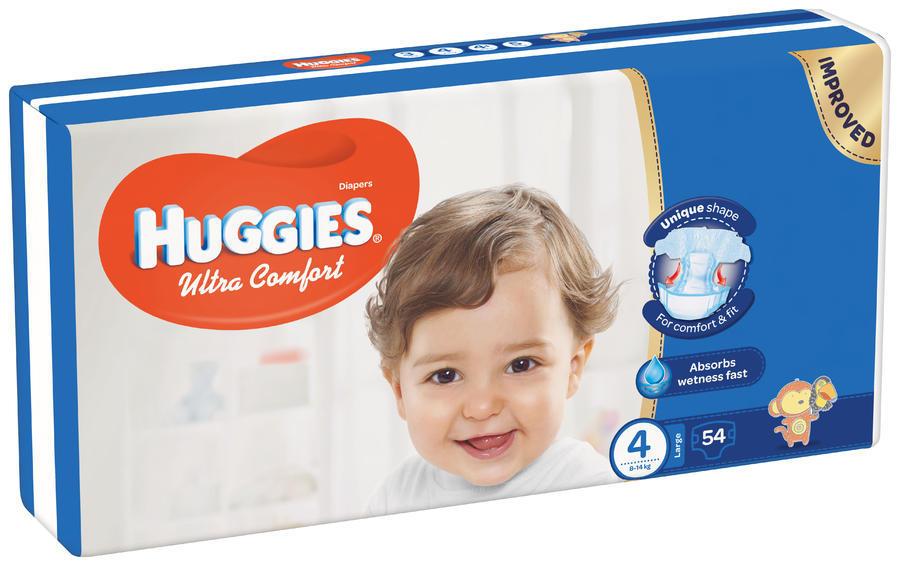 HUGGIES ULTRA COMFORT JUMBO 4 8-14KG (54)