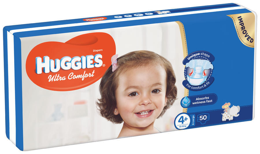 HUGGIES ULTRA COMFORT JUMBO 4+ 10-16KG (50)