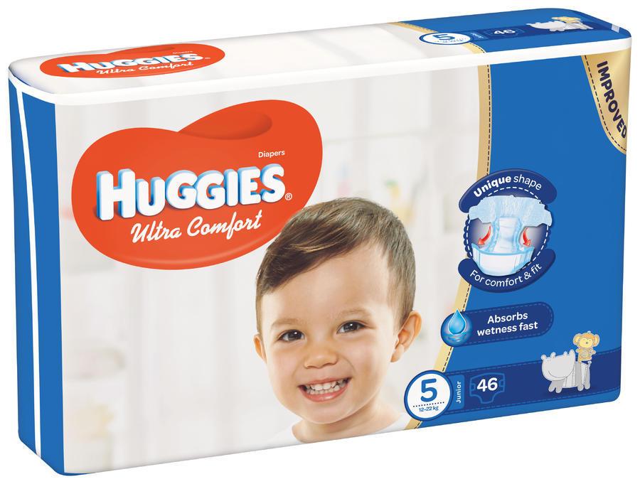 HUGGIES ULTRA COMFORT JUMBO 5 12-22KG (46)