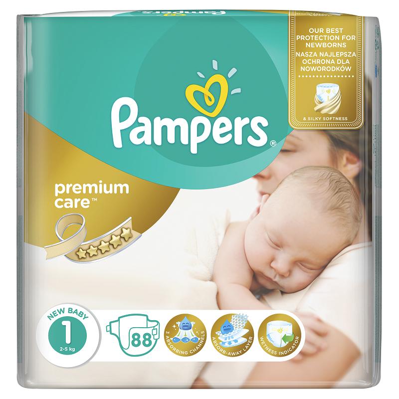 PAMPERS PREMIUM CARE 1 NEWBORN 88 KS 2-5 KG