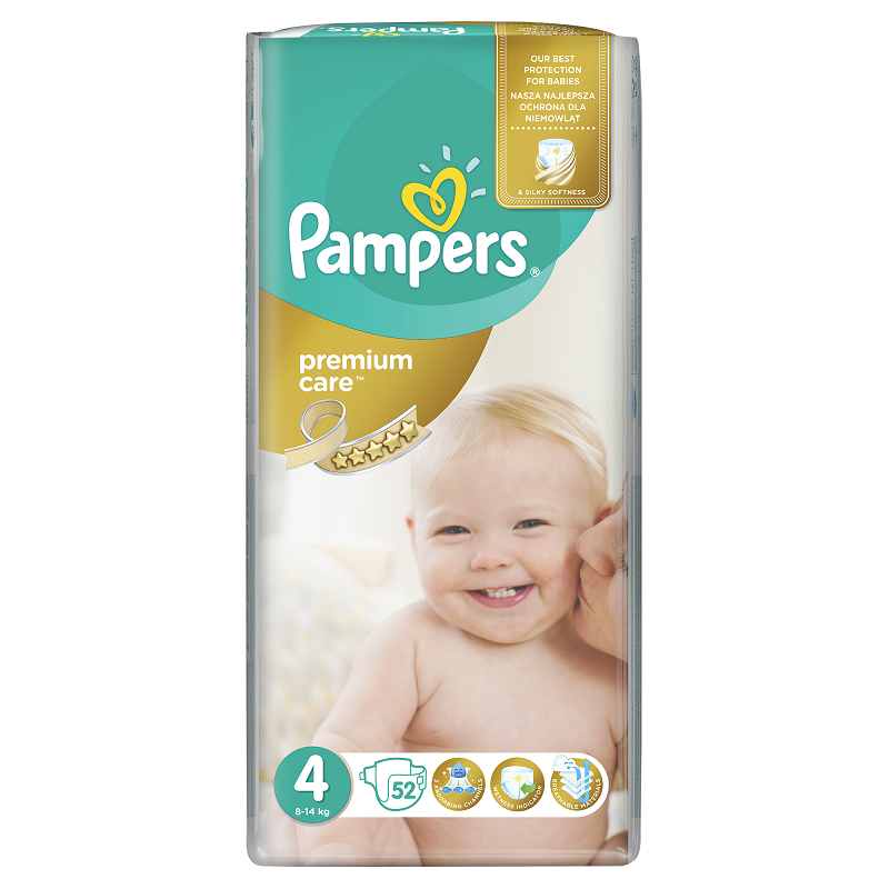 PAMPERS PREMIUM CARE MAXI 52 KS 8-14 KG
